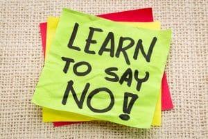 Nein-sagen-Resilienz