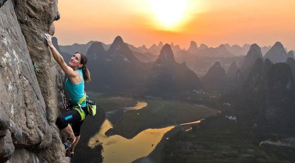 Bergsteigerin - Resilienz
