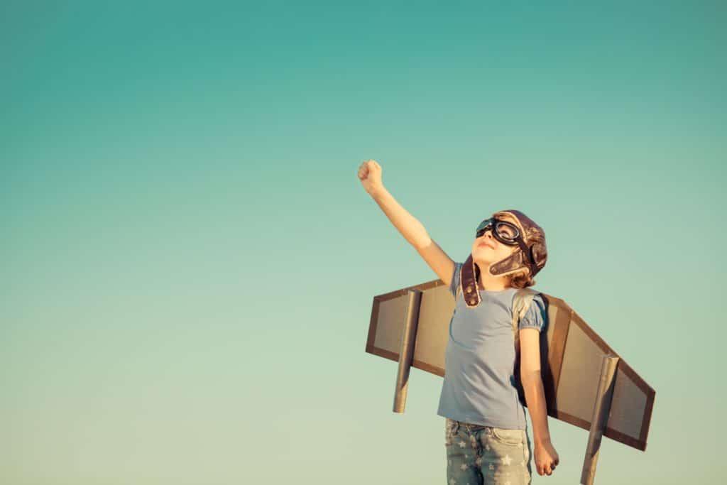 kreativer Junge - Resilienz