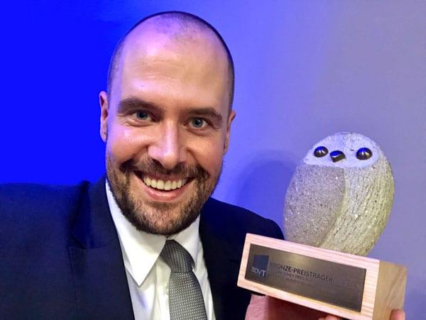Sebastian Mauritz - Europäischer Trainingspreis