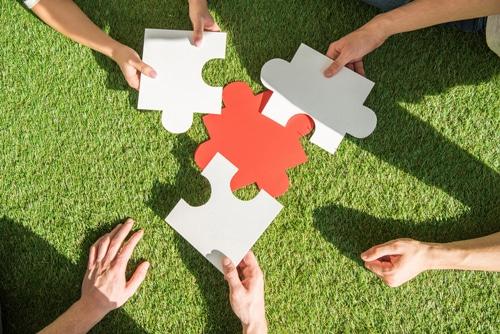 Puzzleteile - Resilienz