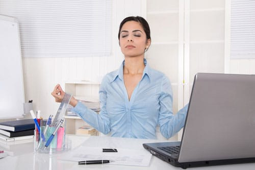 Meditation im Büro