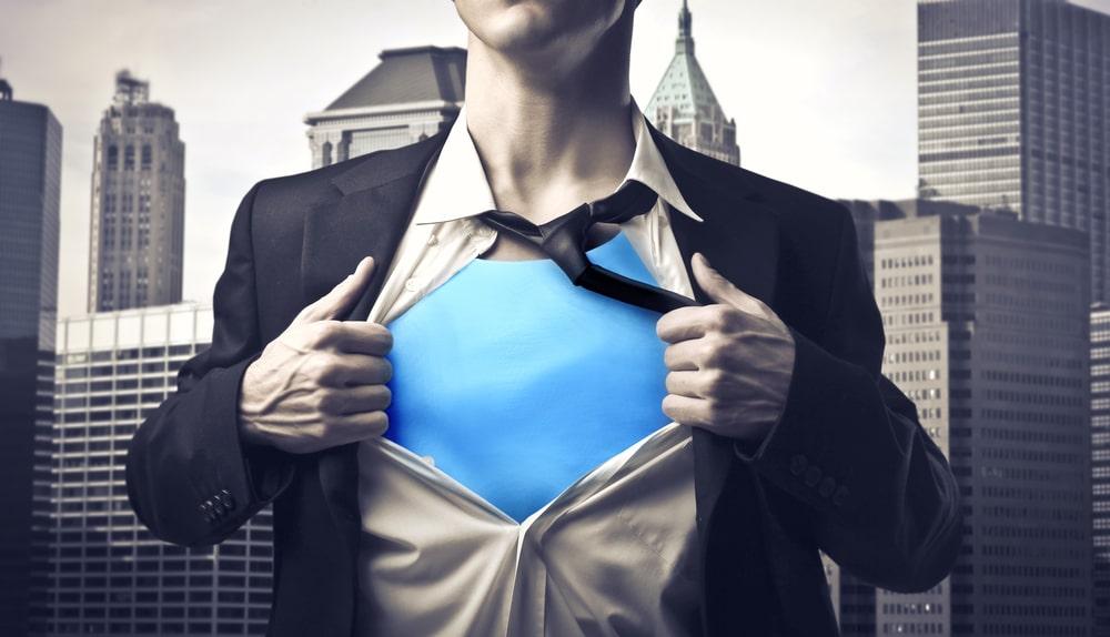 Mitarbeiter als Superheld