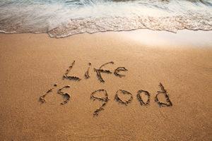 Schriftzug Life-is-good
