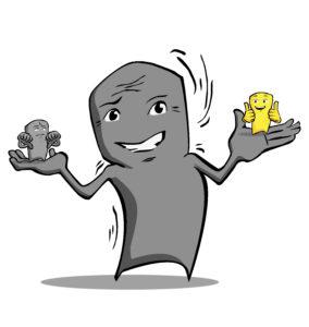 Zwickmühle Figur - Resilienz-Akademie