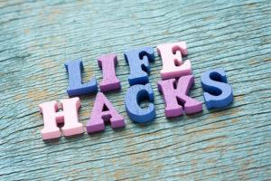Schriftzug Life-Hacks